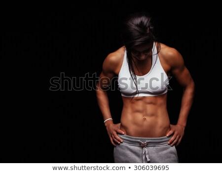 gespierd · vrouwelijke · torso · zwarte · vrouw · meisje - stockfoto © nobilior