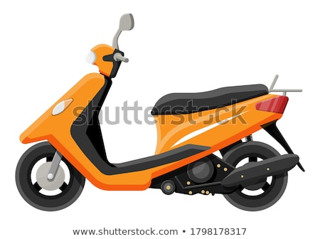 Orange city scooter. Vector illustration stock photo © leonido