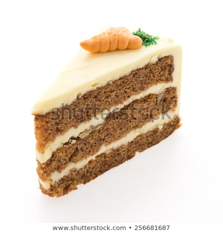 Carrot cake  with carrot on isolated white background stock photo © deymos