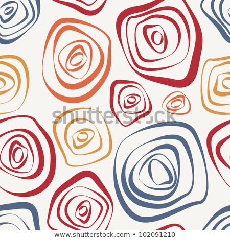 Vibrant warm color circles seamless abstract pattern. Stock photo © latent