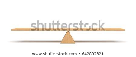 Fából készült fű fa természet nyár jókedv Stock fotó © mtmmarek