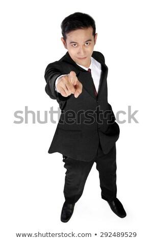 zakenman · Blauw · shirt · hand · focus - stockfoto © feedough