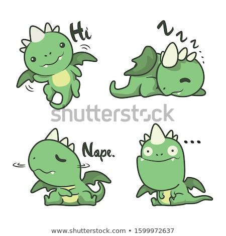 engraçado · dragão · vetor · desenho · animado · ilustração · corpo - foto stock © ddraw