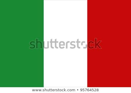 Zászló Olaszország pólus integet szél fehér Stock fotó © creisinger