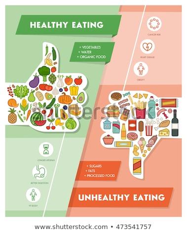tehlikeli · kalp · diyet · sağlıksız · gıda · insan · kardiyovasküler - stok fotoğraf © kirill_m