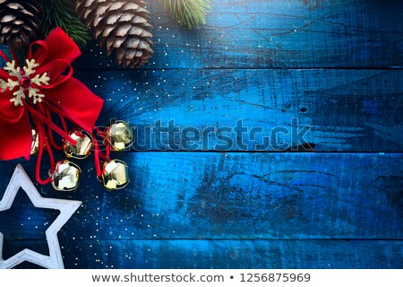 Background from red and blue christmas tinsel Stock photo © inxti