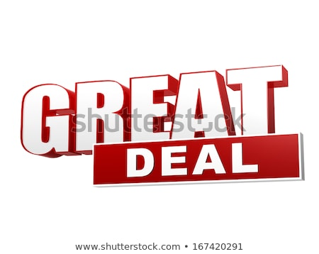 great deal red white banner   letters and block stock photo © marinini