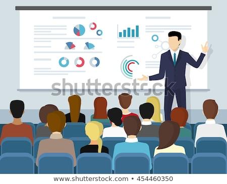 бизнеса семинара речи вектора человека студент Сток-фото © burakowski