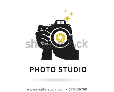 golden digital camera photography logo vector