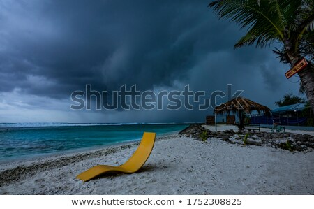 темно Storm Мальдивы воды Villa небе Сток-фото © Joningall
