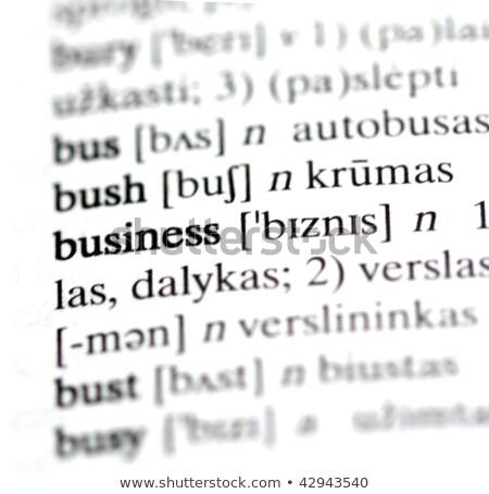 Team woordenboek definitie woord zachte focus Stockfoto © chris2766
