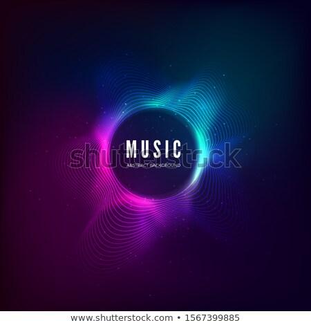 Kleurrijk musical golf banner partij schoonheid Stockfoto © rioillustrator
