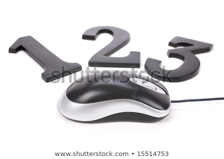 123 and computer mouse Stock photo © devon