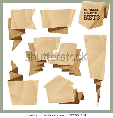 szövegbuborékok · eps · vektor · akta · terv · háttér - stock fotó © voysla