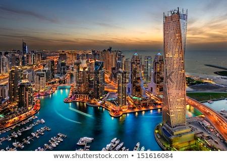 Dubai marina cityscape 13 moderno edifícios Foto stock © bloodua