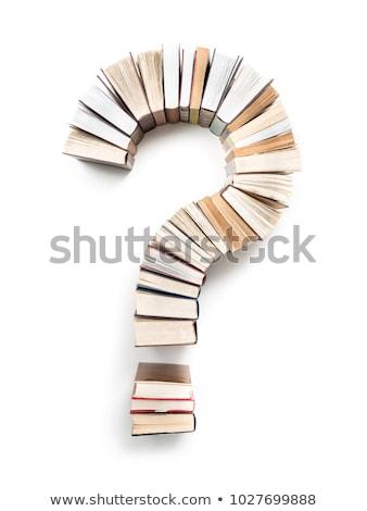 вопросительный знак книга в твердой обложке глядя образование Сток-фото © stevanovicigor