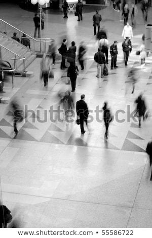 Zdjęcia stock: Ruchu · tłum · niebieski · grupy · czasu · ruchu