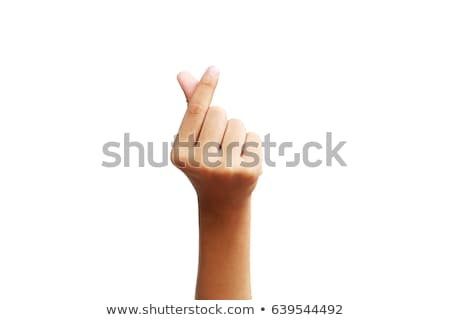 Closeup of arm - hand making number one sign. stock photo © dgilder