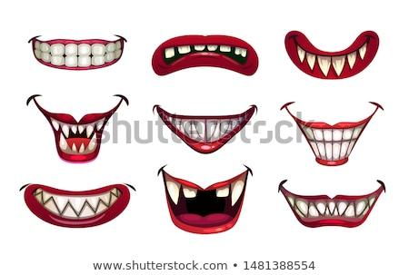 вампир · улыбка · человека · портрет · человек · ужас - Сток-фото © blamb