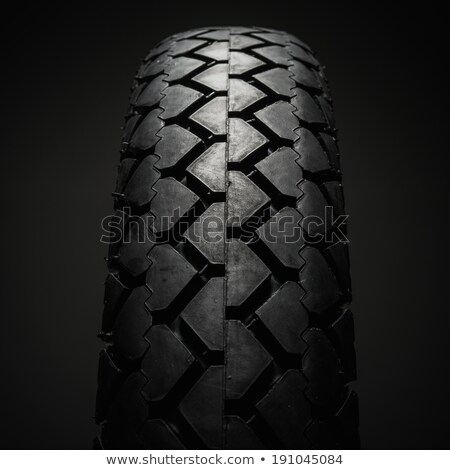 Close-up shot of classical motorcycle tire tread  Stock photo © Nejron