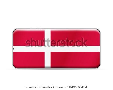 Smartphone pavillon Danemark téléphone internet téléphone Photo stock © vepar5
