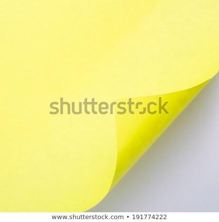 abrir · amarelo · papel · projeto · fundo · sombra - foto stock © hin255