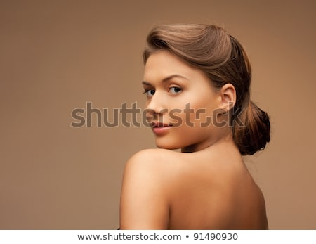 Beautiful tanned woman in a beauty portrait Stock photo © dash