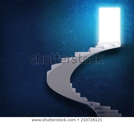 спиральных · лестницы · магия · дверей · свободу · стены - Сток-фото © cherezoff