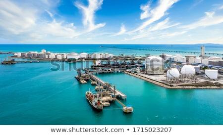 Kikötő olajtanker üzlet égbolt óceán kék Stock fotó © vrvalerian