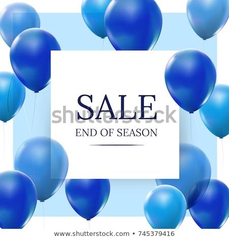 kleur · ballonnen · geïsoleerd · witte · verjaardag · groep - stockfoto © kitch