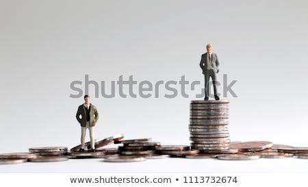 gazdag · szegény · 3D · generált · kép · pénzügy - stock fotó © flipfine