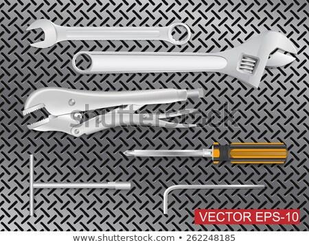 uitrusting · chroom · tools · bouw · achtergrond · werknemer - stockfoto © stevanovicigor