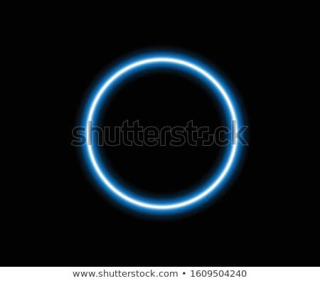 Stockfoto: Lichtblauw · cirkel · effect · voorraad · vector · technologie