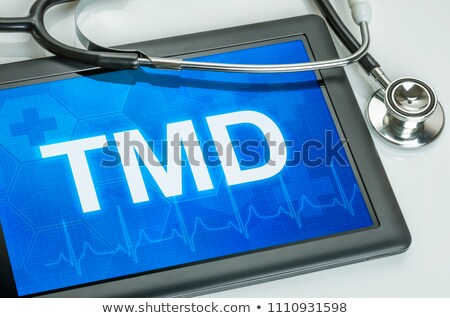 tmd diagnosis on the display of medical tablet stock photo © tashatuvango