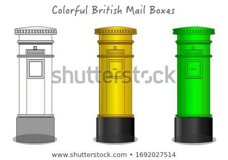 Sketched Green Postbox Stock photo © Theohrm