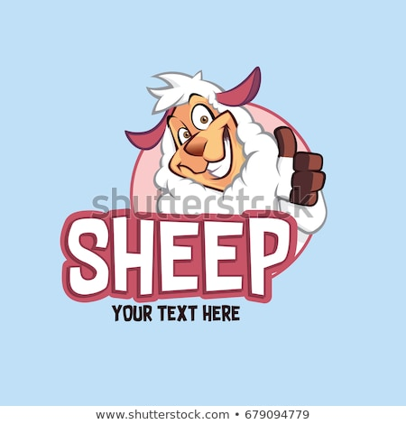 счастливым · овец · талисманы · талисман · невинный - Сток-фото © arleevector