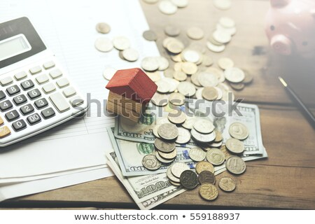 Calculator with money - Pension Stock photo © Zerbor