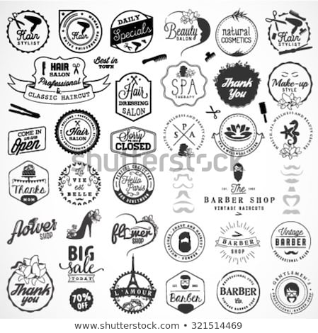Barbero tienda signo París Francia negocios Foto stock © dutourdumonde