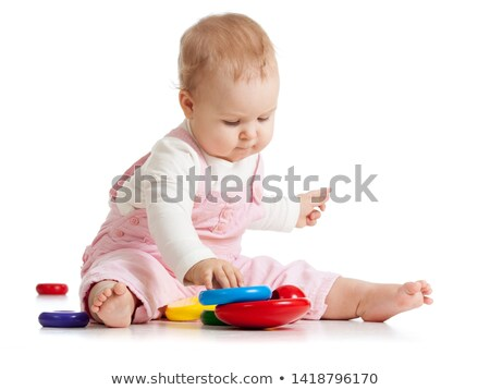 Photo stock: Baby Playing Isolated