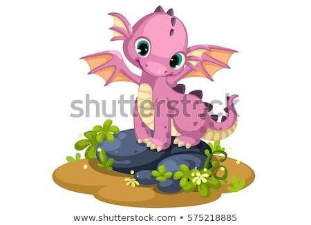 Little fairy dragon, vector illustration Stock photo © carodi