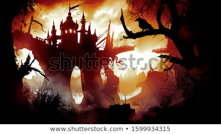 Castle with two towers and trees Stock photo © Anna_leni