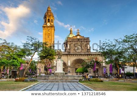 Kościoła wejście Filipiny Święty mikołaj unesco świat Zdjęcia stock © joyr