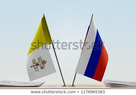 Russia and Vatican City - Miniature Flags. Stock photo © tashatuvango