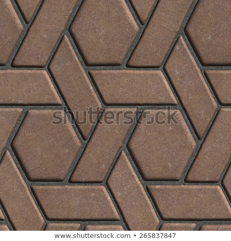 Brown Paving Slabs Built of parallelograms and hexagons. Stock photo © tashatuvango