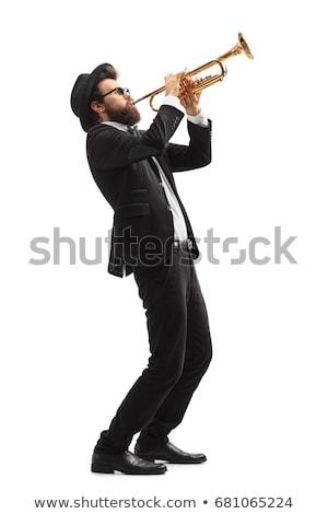 golden saxophone isolated on white background Stock photo © ozaiachin