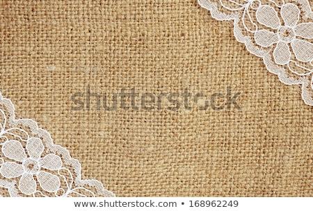 Arpillera encaje blanco cinta textura retro Foto stock © FOTOYOU