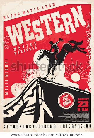 vector · cowboy · izolat · alb · semna · stea - imagine de stoc © dashadima