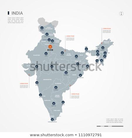 Narancs gomb kép térképek India űrlap Stock fotó © mayboro