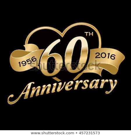 60th wedding anniversary invitation stock photo © irisangel
