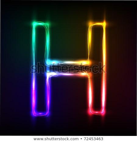 neon · geïsoleerd · zwarte · computer · ontwerp - stockfoto © RAStudio